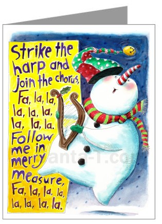 Buy funny and whimsical holiday greeting cards deck the halls fa la la christmas card for purchase m4hsunfo