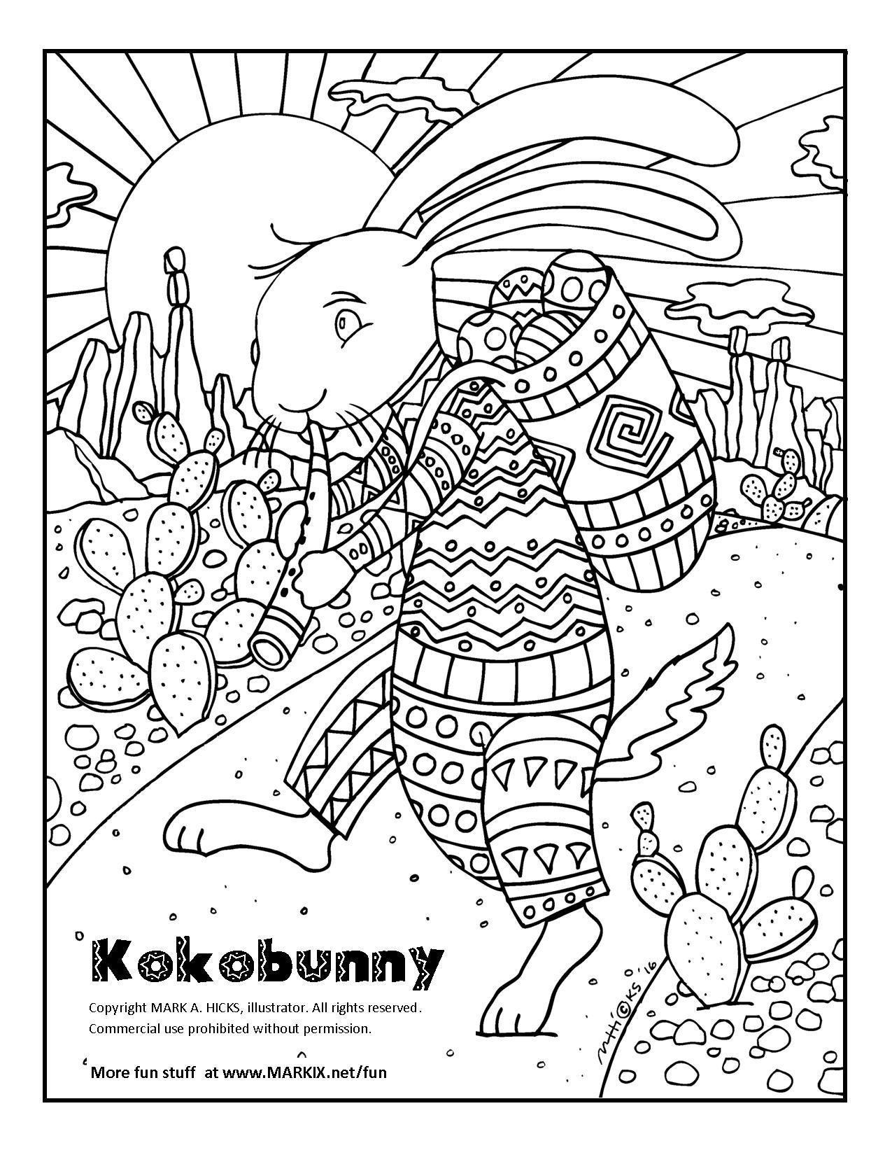 Kokobunny Coloring Page
